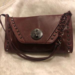 Elliot Luca leather dark red/Burgundy Clutch Strap